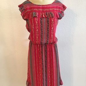 LOFT Beautiful Red Floral Dress size Large! NWT!